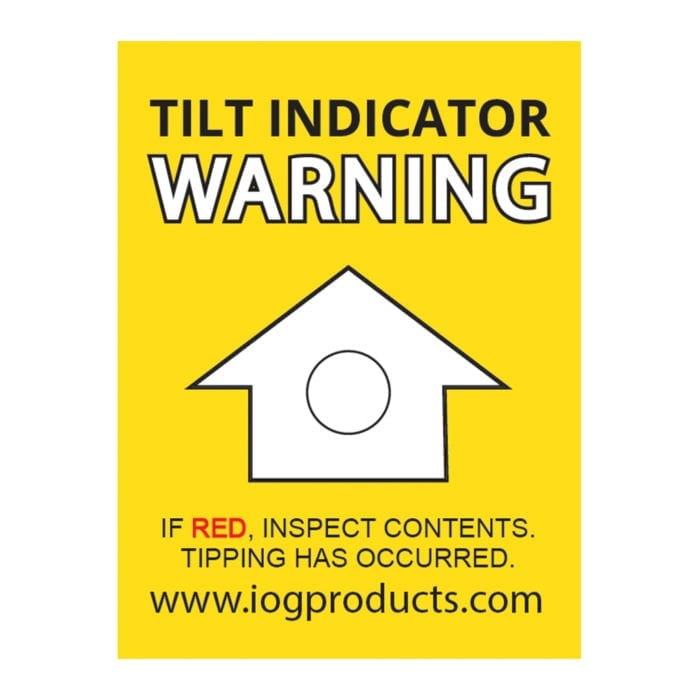 Tilt indicator label